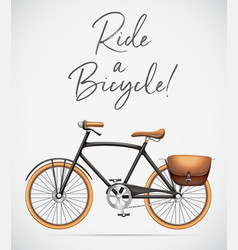 ride a bicycle scene vector image