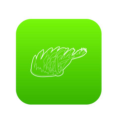 seaweed icon green vector image