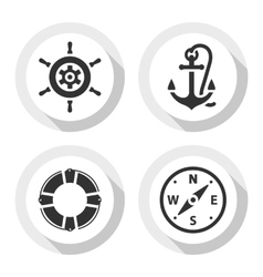 Set of travel flat icons vector image