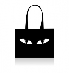 Shopping bag with eyes vector