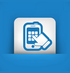 smartphone call vector image