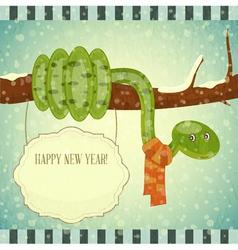 snake on branch vector image