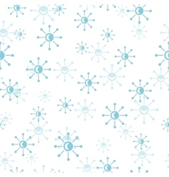 Snowflakes Seamless Pattern in Flat Design vector image