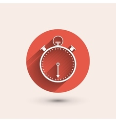 Stopwatch minimal icon vector