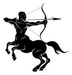 Stylized centaur archer vector