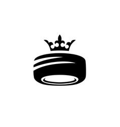 tire king crown royal logo service store shop icon vector image