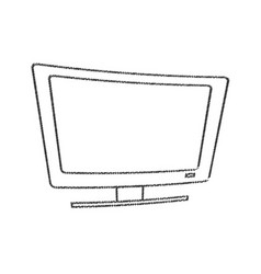 Tv appliance electrical line vector