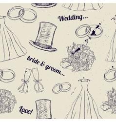Vintage wedding seamless texture vector