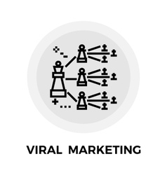 Viral marketing line icon vector