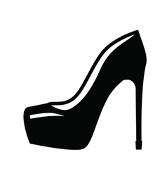 womens shoe vector image