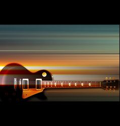 abstract grunge background with electric guitar vector image vector image