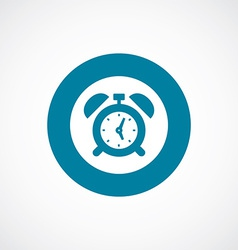 alarm clock icon bold blue circle border vector image