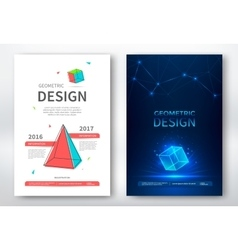 Brochure design templates vector image