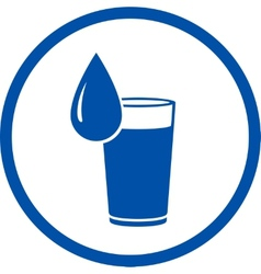 Drop and water glass icon vector