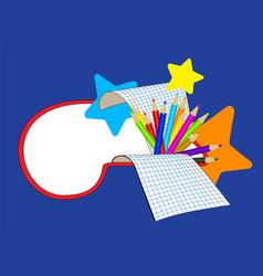 education cartoon banner vector image vector image