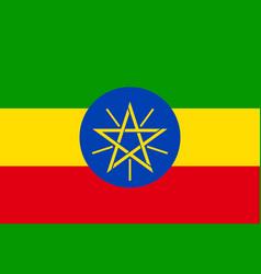 national flag of ethiopia vector image