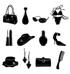woman accessories vector image vector image