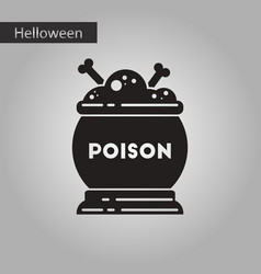 black and white style icon halloween potion vector image