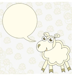 Cartoon sheep congratulates vector image vector image