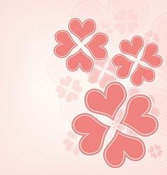 heart flower background vector image vector image