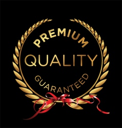 Premium quality laurel wreath vector image
