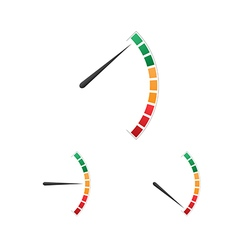 Set of colorful fuel meter tachometer speedometer vector image vector image