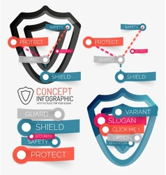 shield protection infographic vector image