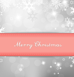 Christmas silver background with snow flakes and vector image