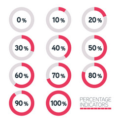 circular progress bar - ten percentage indicators vector image