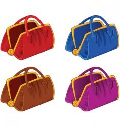 color handbags vector image