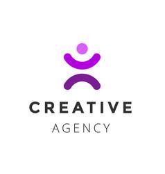creative agency logo design template vector image