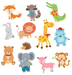 Cute Animal Collection vector image