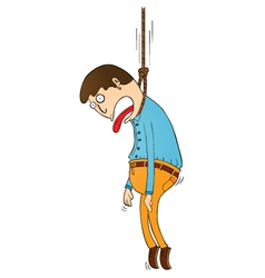 Hanging punishment vector image vector image