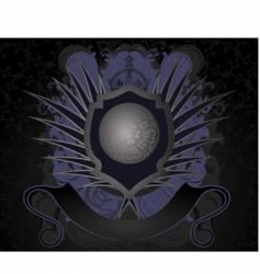 grunge royal label vector image vector image