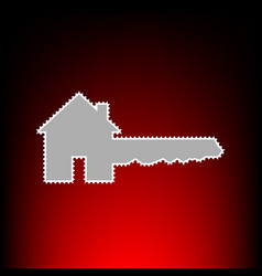 home key style on vector image
