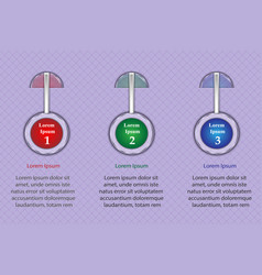 infographics three positions for presentation 3 vector image