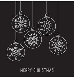 Snowlakes geometric Christmas ornaments vector image vector image