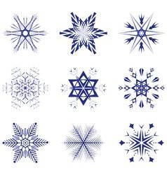 vector snowflakes vector image vector image