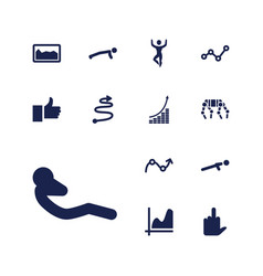 13 up icons vector