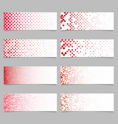 Abstract diagonal square pattern banner vector