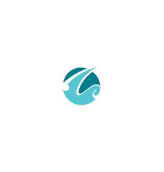 abstract fishing line logo icon vector image