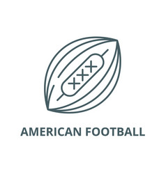 american football line icon american vector image