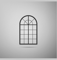 arched window icon isolated on grey background vector image