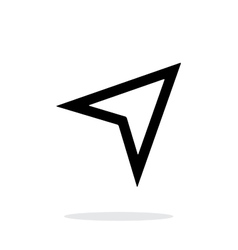 Arrow navigator icon on white background vector image