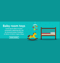 baby room toys banner horizontal concept vector image