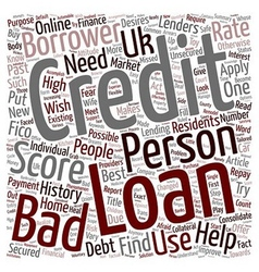 Bad Credit Personal Loan A changed attitude of vector