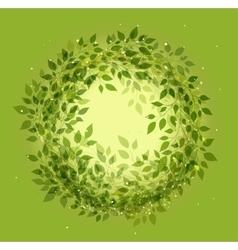 Beautiful green wreath vector