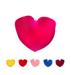 big pink shape of heart vector image