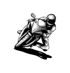 biker motorcycle grunge silhouette retro vector image