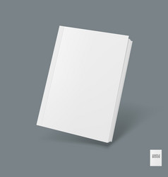 blank cover of magazine book or booklet template vector image